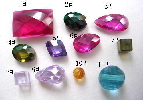 专业生产的锆石、尖晶、刚玉等人造宝石