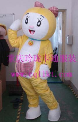 西安宝鸡卡通服装机器猫人偶服饰