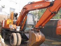 日立100轮胎挖掘机,轮式挖掘机