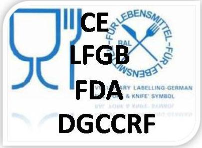 餐具橱具FDA LFGB DGCCRF2004-64 EU认证