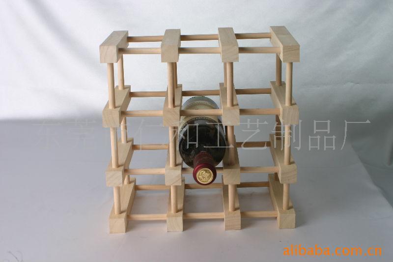 雕刻工艺品 木酒架