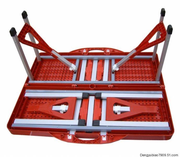 广州带四个凳子桌椅、广州折叠桌椅、广州连体折叠桌、便携桌椅、联体