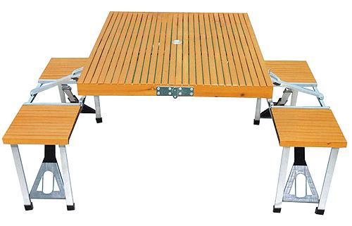 广州野餐桌、外贸野餐桌椅、折叠式野餐桌、户外休闲野餐桌、塑料野餐