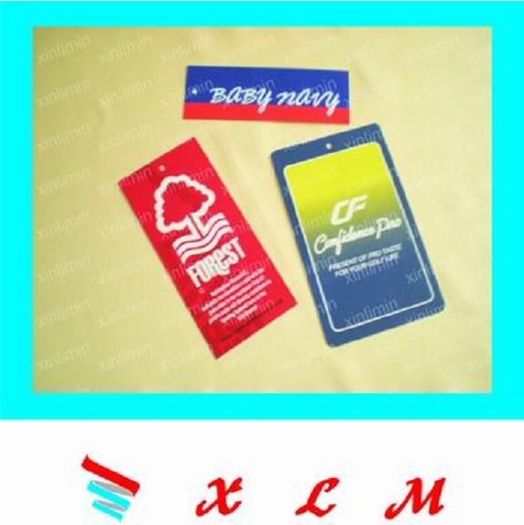 供应生产书包吊牌/背包吊卡/公文包皮标