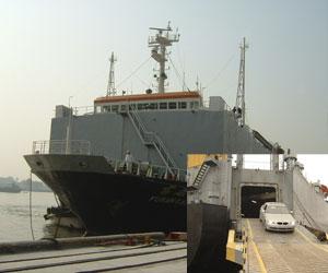 龙口,张家港--黑角滚装船