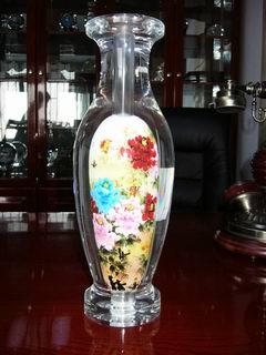 水晶内画大花瓶