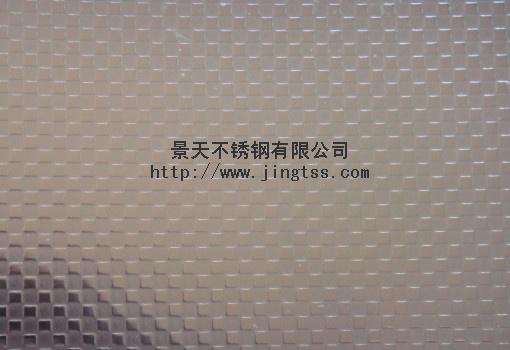 不锈钢台面压花板-小方格