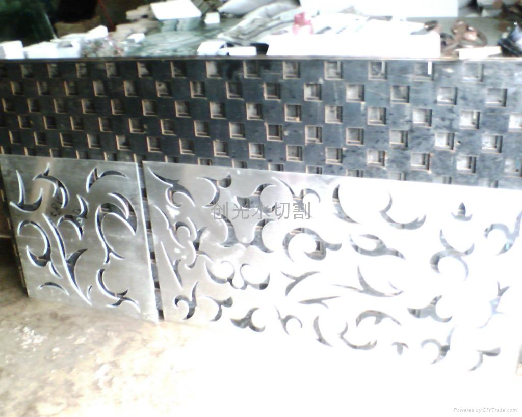 铝板雕花水切割加工
