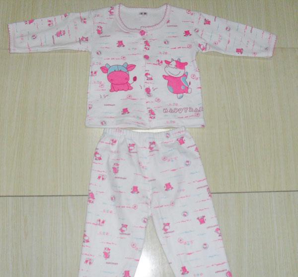 婴儿纯棉保暖内衣宝宝装-中间扣