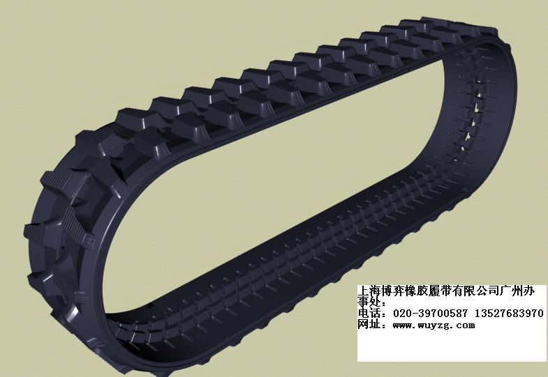 挖土机橡胶履带链板