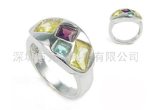 """供应""""天骄贵族""""天然彩色水晶戒指"""