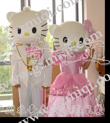供应卡通服装/表演服装/动漫服装/KT猫