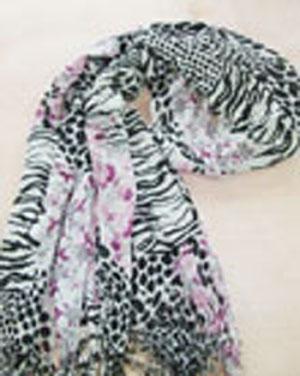 人棉 印花长围巾
