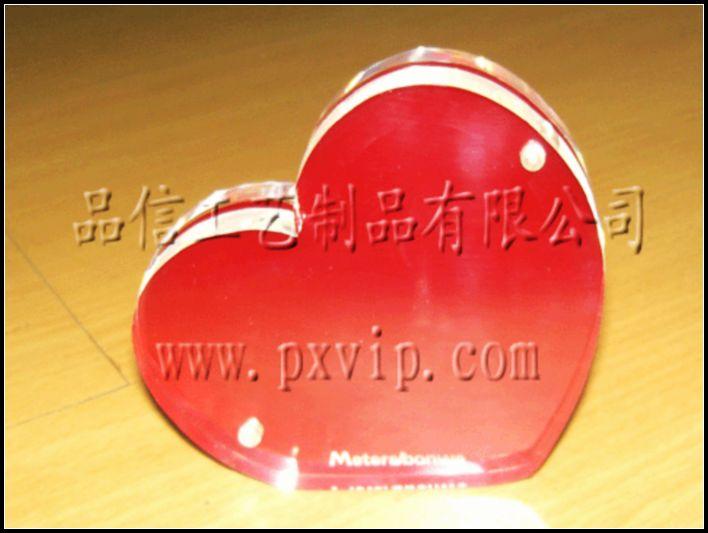 供应上海压克力心型相框,有机玻璃水晶相框