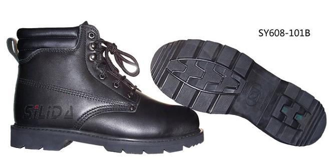 牛皮防砸耐高温安全鞋