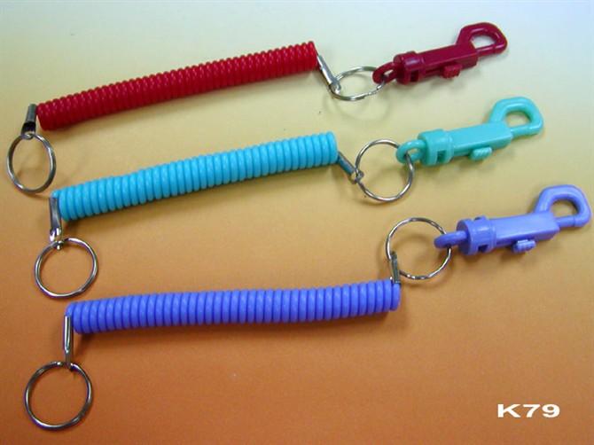 塑料弹簧绳,弹簧挂绳,弹簧钥匙链
