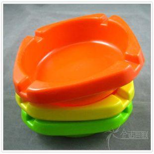 美耐皿 密胺树脂高档仿瓷礼品环保餐具四方形烟灰缸