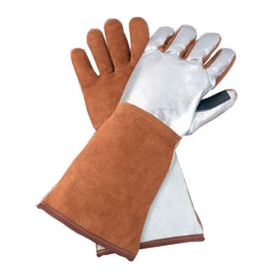 青岛镀铝皮革焊接隔热手套
