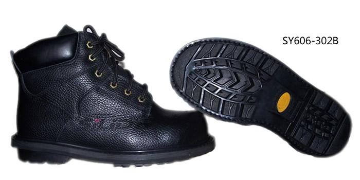 中帮牛皮防滑耐高温安全鞋
