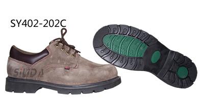 低帮牛皮抗静电耐磨工作鞋
