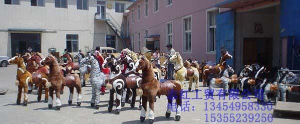 诸葛马|诸葛马是不吃草、不用电、骑上走的仿真马 儿童毛绒玩具马批