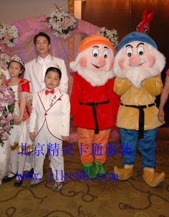 北京精灵卡通服装,毛绒卡通服饰,充气气模