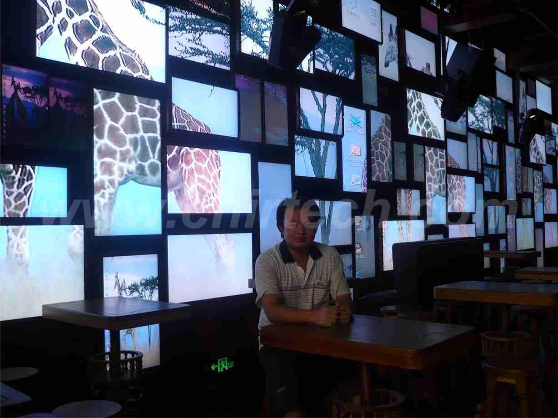 厂家现货供应最耐用 最可靠的液晶监视器 监视器长奇达--酒吧拼接屏,让我们看得更清晰