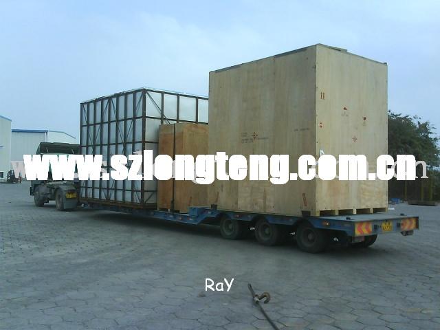 大型机器设备运输,超高平板柜运输,框架柜拖车运输