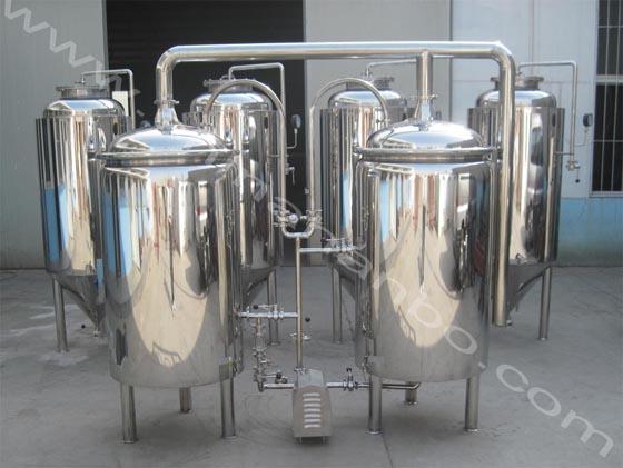 汉博100L自酿鲜啤酒设备