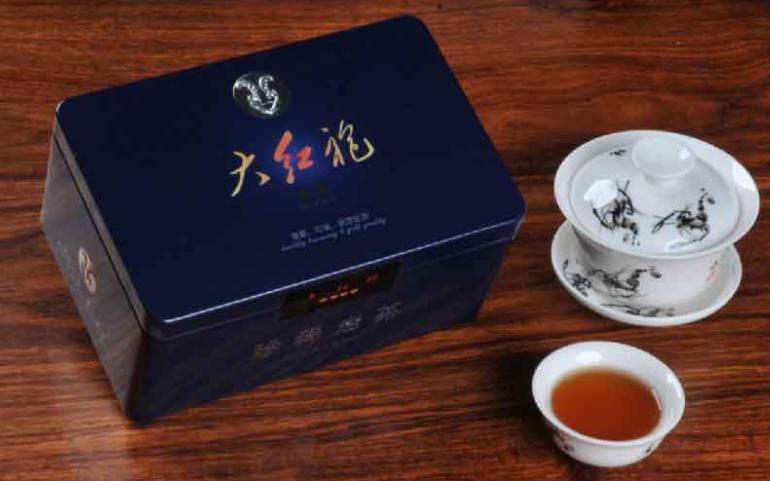 深圳集韵五彩金瓷罐装大红袍礼品茶