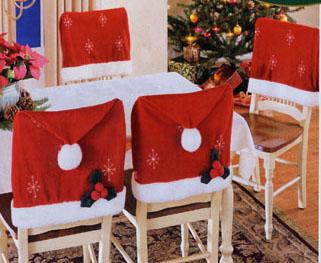 圣诞椅套,圣诞帽,圣诞袜,圣诞老人