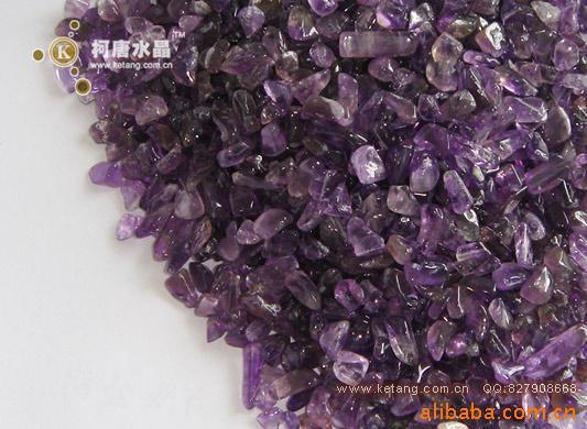 供应大量紫晶水晶碎石 碎料 不定型 大量出售