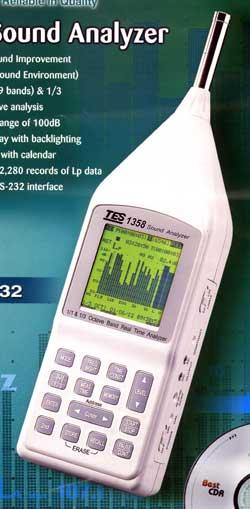 噪音计声级计即时音频分析仪TES1358