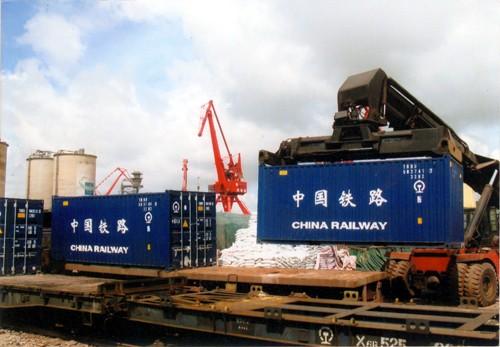 上海、宁波、厦门、温州、义乌、萧山、杭州、苏州、常州、无锡、昆山、南京、江阴、连云港-阿拉美金、奥什、列宁纳巴德国际铁路运输