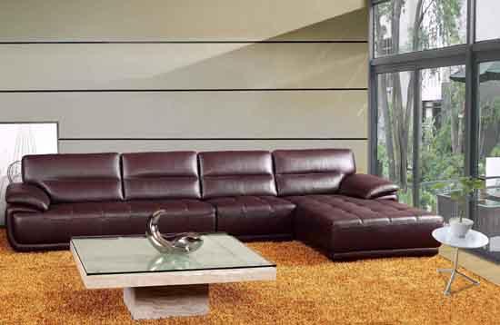 高档现代中厚皮沙发
