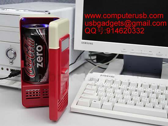 USB制冷冰箱 USB迷你冰箱生产厂家 批发USB小冰箱 USB新奇特电脑礼品