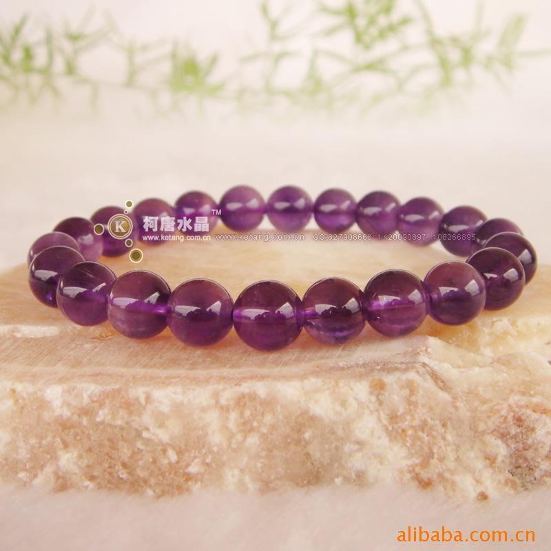 紫水晶手链/时尚饰品/天然水晶/紫晶手链/流行水晶