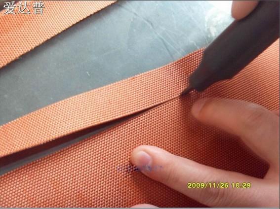 超声波天然纤维橡胶蛋糕食品无纺布切割机
