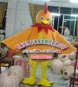供应大黄鸡卡通服装