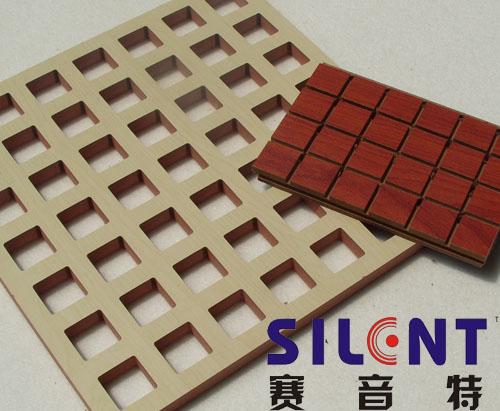赛音特木质方格装饰吸音板