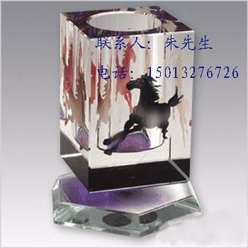 水晶笔筒,高档水晶笔筒,企业促销水晶笔筒,文化纪念礼品,精致优雅