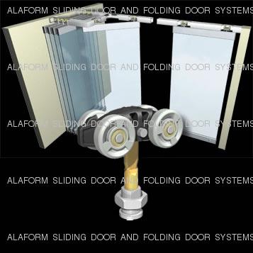 ALAFORM高品质悬挂滑动玻璃推拉折叠门系统