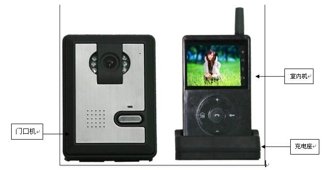 广东安尔发2.4G无线可视对讲门铃