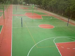 球场地坪漆,威子地坪漆,环氧地坪漆,地面漆施工