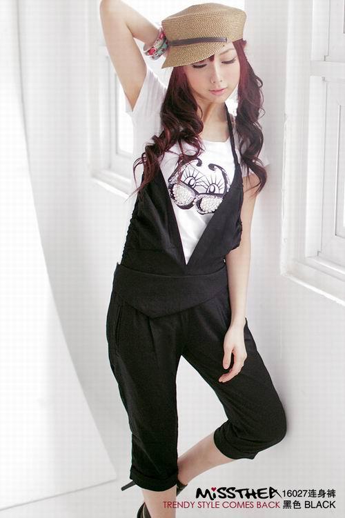 维纳斯--蜜西娅16027舒适挂脖背带裤