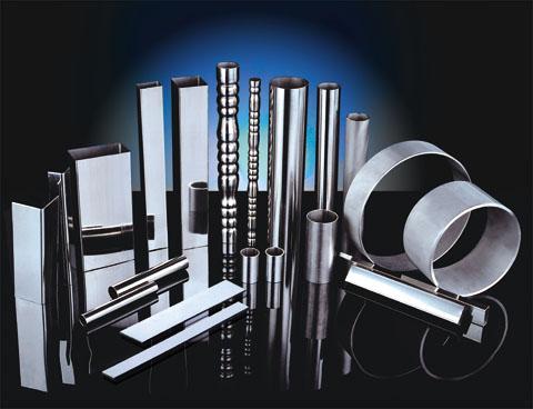 SUS304L不锈钢管材装饰管子镜面管拉丝管光亮管砂光管焊管