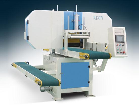 板材开片机械全自动卧式带锯机MJ3971-300
