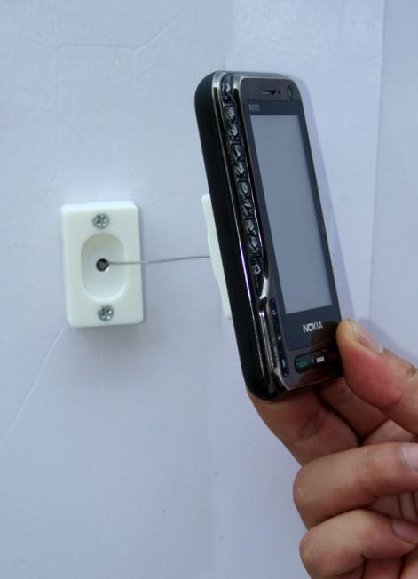 手机防盗链手机磁性托架手机自动伸缩绳