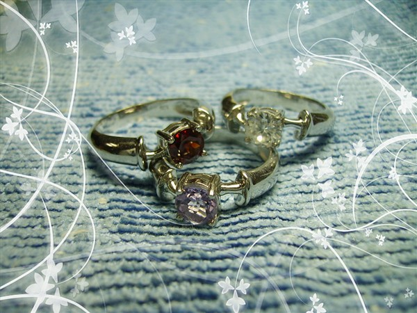 925银戒指镶嵌天然半宝石