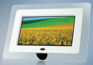 厂家直销7寸白色方形数码相框,全AA屏,高清图片
